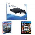 SONY PS4 500GB Grand Theft Auto V Premium Edition & God of War Bundle